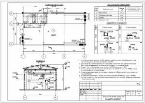 План и разрез здания. Спецификация перемычек. Экспликация помещений