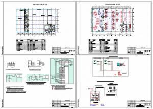 Схемы пожаротушения, сигнализации, видеонаблюдения и связи