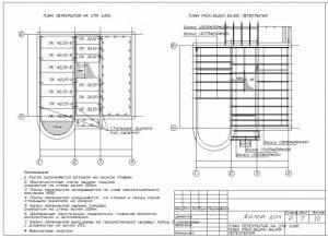 Схема расположения плит перекрытия.