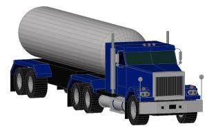 Машина большой грузовик с цистерной