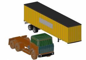 Машина тягач и контейнер