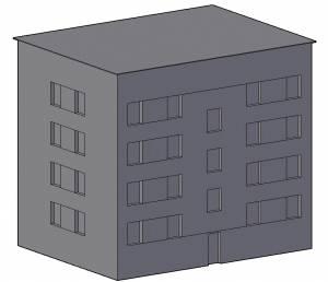 Многоэтажный дом модель 1