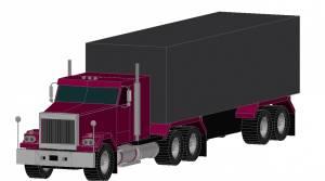 Машина большой грузовик (фура)