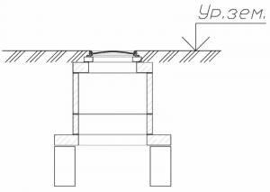 Элементы колодца теплотрассы (блок ФБС, кольца железобетонные. плита опорная, люк чугунный)