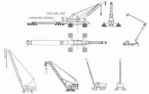 Строительная техника (краны, вышка, железнодорожный кран)